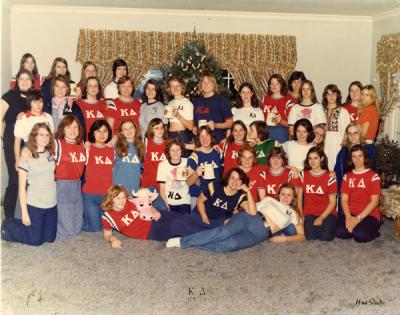 Kappa Delta sorority group photo, Christmas 1975.