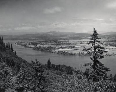 The lower Columbia River near Astoria, Oregon, ca 1980s.