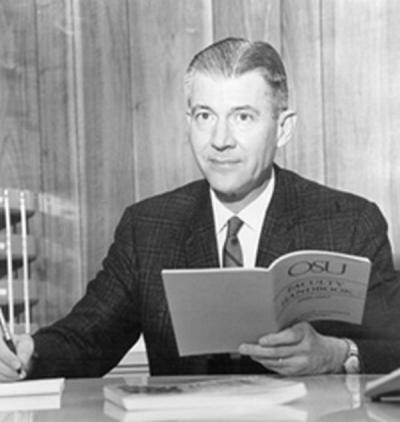 Dean of Faculty David Nicodemus, 1966. Nicodemus, a Physics Professor and Administrator, served as the Dean of Faculty from 1966 until 1985, when the functions of the Dean of Faculty Office shifted to the newly created Office of the Provost and Vice President for Academic Affairs.