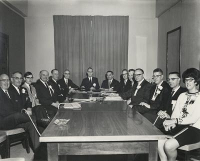 Dads Club meeting, circa 1960.