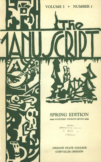 e Manuscript Spring 1927 Issue