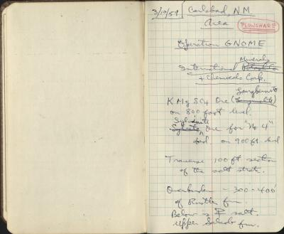 1959 Field Notebook