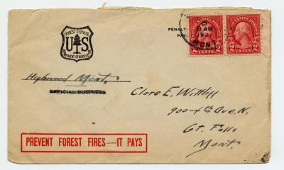 United States Forest Service envelope