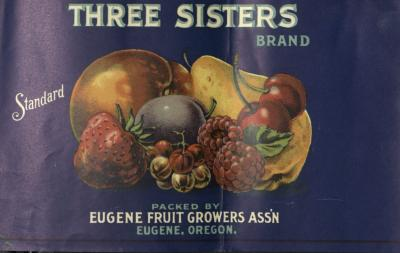 Bartlett pear can label, Eugene Fruit Growers Association