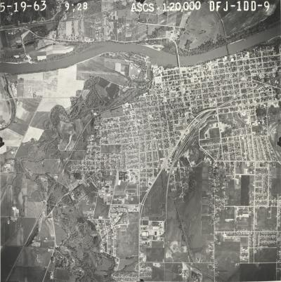Aerial Photograph of Corvallis, Oregon, 1963.