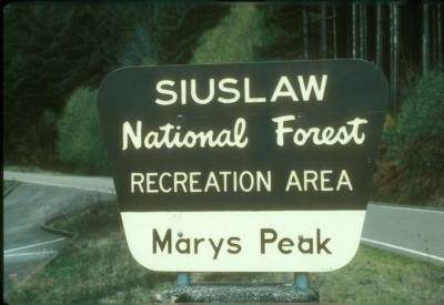 Sign at Marys Peak