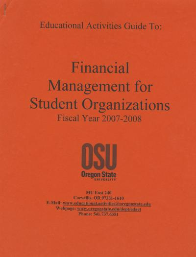 Cover of Financial Guidelines for 2007-2008