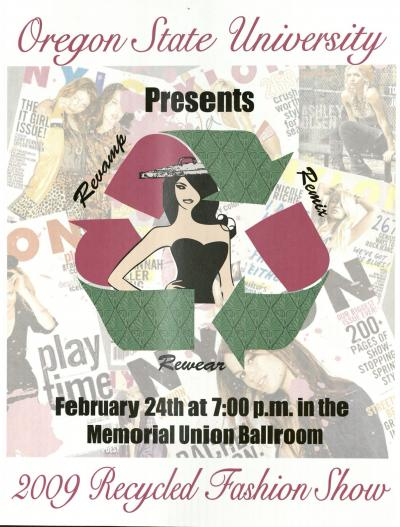 Recycled Fashion show flyer, 2009