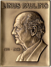 The Linus Pauling Legacy Award medal.