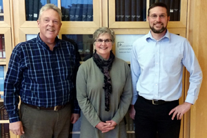 Project oral historians (from left) Mike Dicianna, Janice Dilg, Chris Petersen.