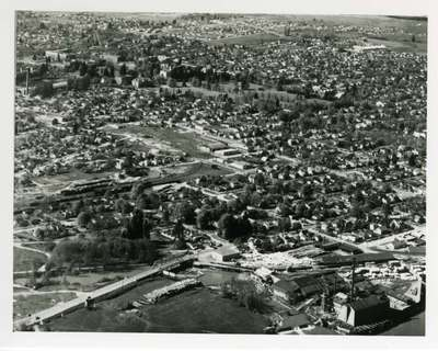 Aerial View of Corvallis, 1946