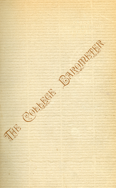 Cover of the first issue of The College Barometer