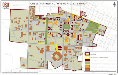 Map of the OSU National Historic District
