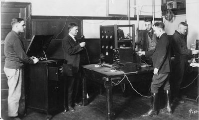 KOAC's First Radio Transmitter, 1922