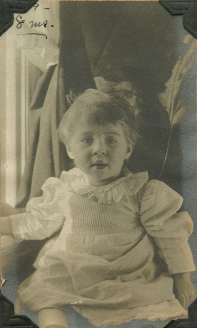 Black and white photographs of Roger Hayward during his childhood.