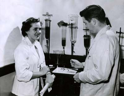 Students in a Pharmacy Class, 1952