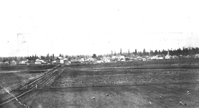 View of Corvallis, near the college farm