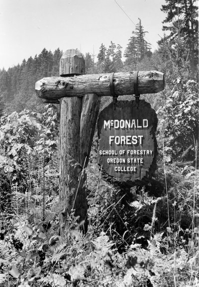 McDonald Forest Entry Sign, 1940