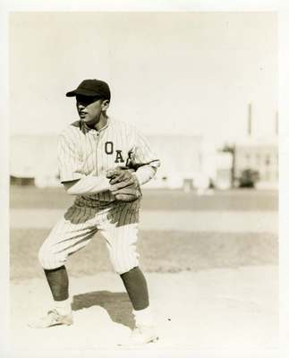 OAC Baseball Player Glen Winters, ca. 1920s