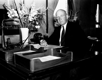 Frank Ballard on his first day as president