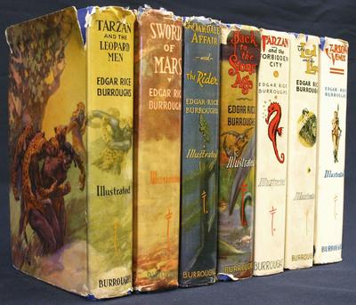 Seven first edition novels from Edgar Rice Burroughs.