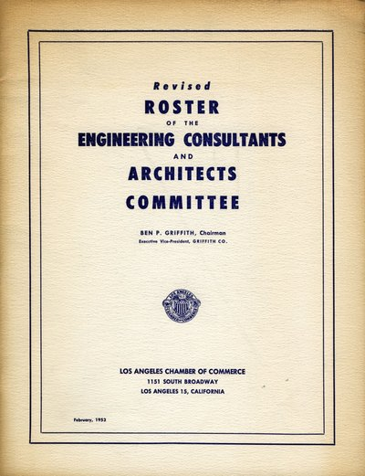 Roster for the Engineering Consultants and Architects Committee.