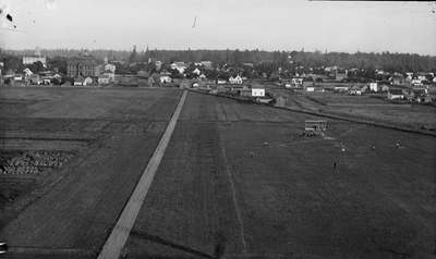 Aerial View of the Baseball Diamond and Lower Campus, 1892-1893