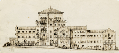 Architectural rendering of Weatherford Hall