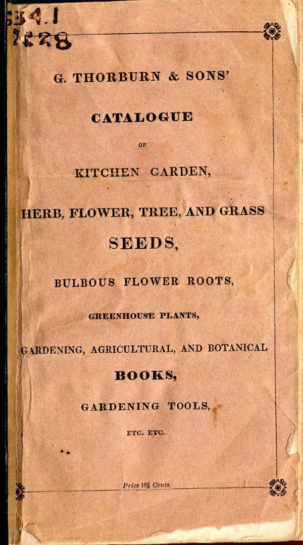 Special collections archives research center catalogue for Gardening tools dublin