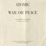 Atomic War or Peace