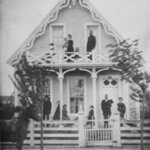 Black and white photograph of the Finley house.