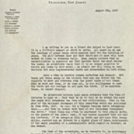 Fundraising letter, August 6th, 1947