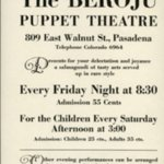 Promotional flyer for the Beroju Puppet Theatre.