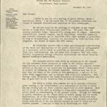 Fundraising letter, November 11, 1947