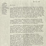 Fundraising letter, March 18, 1947