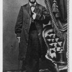 Black and white photographic portrait of William Asa Finley.