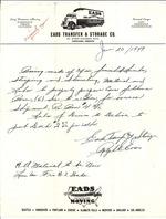 EADS Transfer & Storage Co. Letter