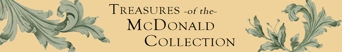 Banner Image. Treasures of the McDonald Collection