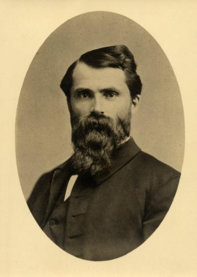"<p>President William A. Finley, ca. 1870. Finley was the first president of Corvallis College from 1865-1872. Finley was a Methodist minister who helped alter the reputation of Corvallis College from a ""pioneer high school""</p><p>				to a higher education institution.</p>"