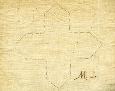 An example of the work found within the Mary Jones sewing book, ca. 1899.