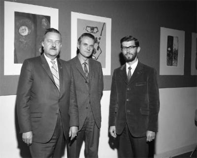 Gordon W. Gilkey, Don McIlvenna and Glen D. Dealy, ca. 1970s.