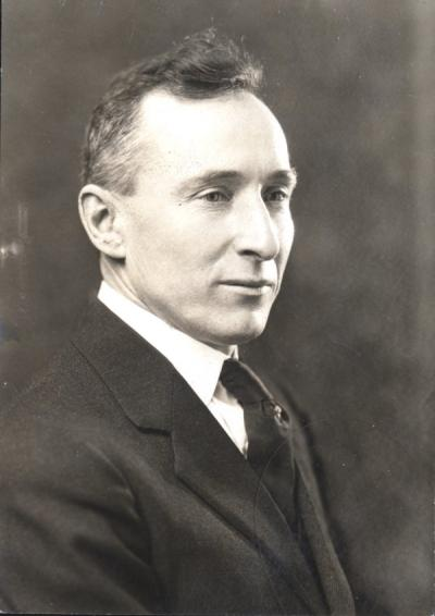 Ulysses Grant Dubach, ca 1930s. Dubach became the head of the Political Science program in 1913 and served as the Dean of Men from 1924-1947.