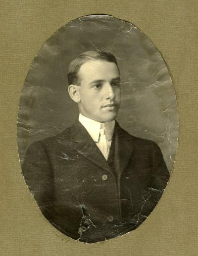Portrait of Ray Stout, ca. early 1900s.