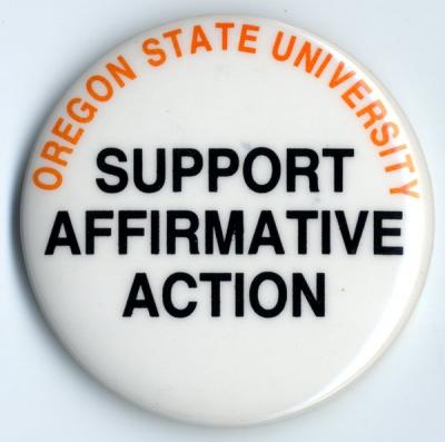 """Support Affirmative Action"" pin."