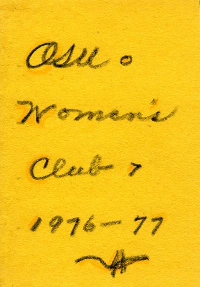 Phone directory of the members of the Oregon State University Women's Club, 1976-1977.