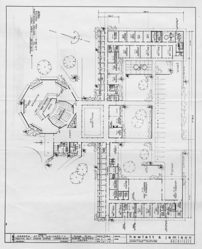 Architect's floor plan for Yaquina Marine Science Laboratories, Newport, Oregon, May 1963.