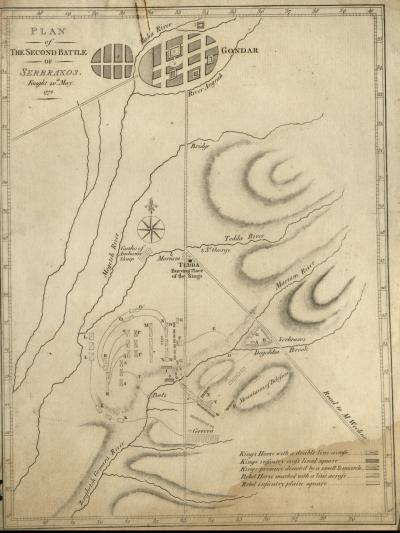 Plan of the First Battle of Serbraxos Fought 20 May, 1772