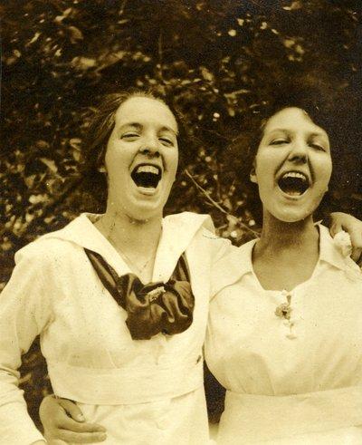 Two unidentified women