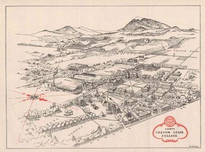 OSC Campus Map, 1950
