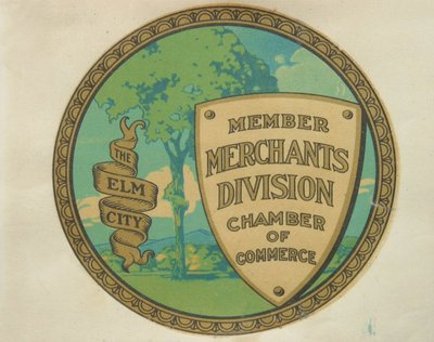 Color reproduction of an emblem created for the Keene, New Hampshire Chamber of Commerce.